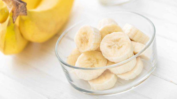 Helado de plátano y coco