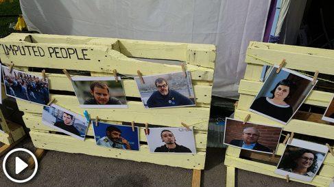 """Murales separatistas que califican a Rodrigo Lanza de """"preso político"""""""