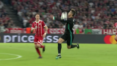 Kuipers anuló el gol a Cristiano Ronaldo por controlar el balón así.