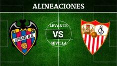 Consulta las posibles alineaciones del Levante vs Sevilla.