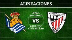 Consulta las posibles alineaciones del Real Sociedad vs Athletic de Bilbao.