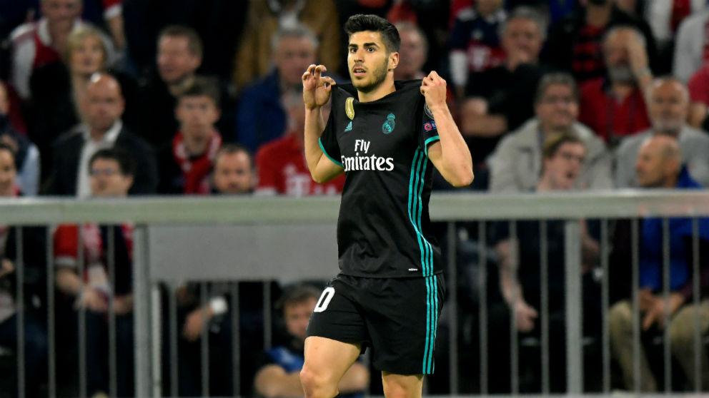 Marco Asensio celebra el gol. (AFP)