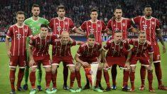 El once con el que el Bayern saltó al Allianz Arena, ante el Real Madrid (AFP).