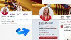 Cambio en el perfil en Twitter de Cifuentes. | Última hora Cifuentes