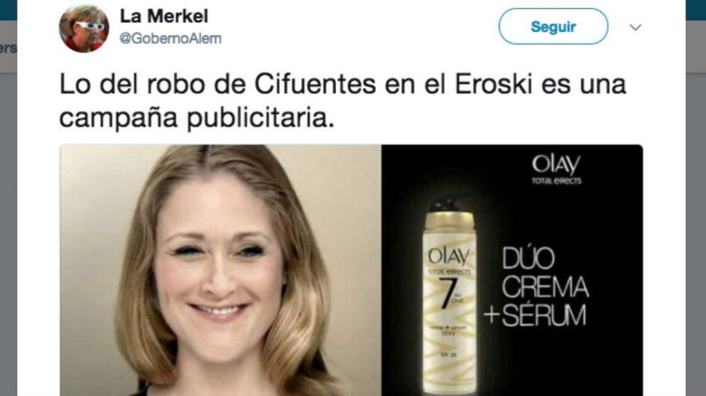 Cristina Cifuentes, Erosky y Olay son trending topic de Twitter | Última hora Cristina Cifuentes