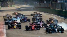 El circuito de Bakú acoge la tercera carrera de su historia adelantando su fecha en el calendario, donde este año pasa a ser la cuarta prueba de un mundial que de momento domina Sebastian Vettel. (Getty)