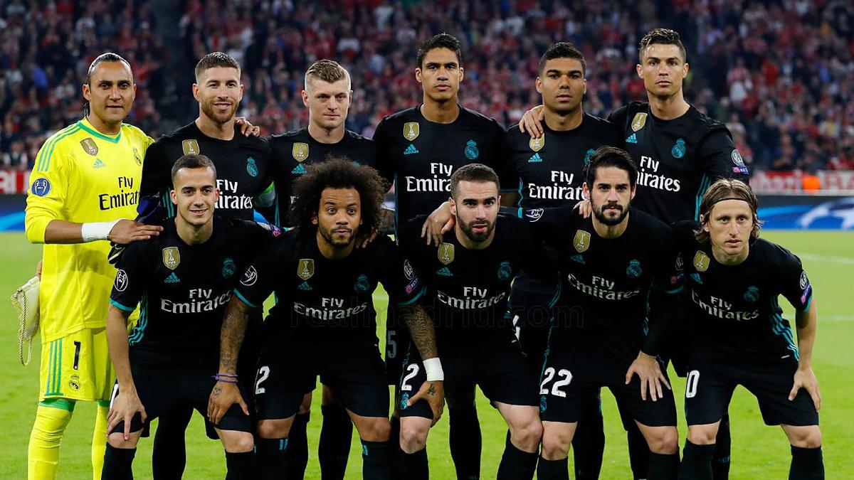 El once del Real Madrid  en el Allianz Arena.