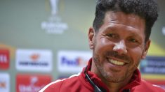 El Cholo Simeone, en la rueda de prensa previa al Arsenal – Atlético. (AFP)