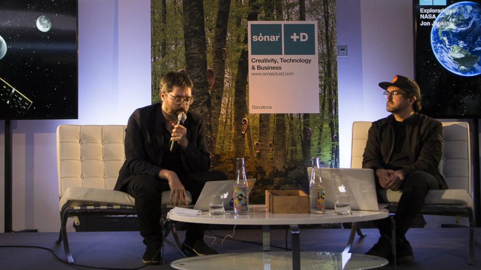 José Luis de Vicente, comisario de Sonar+D, y Xavier Tribó, director de GlassWork. Foto: Patricia Nieto