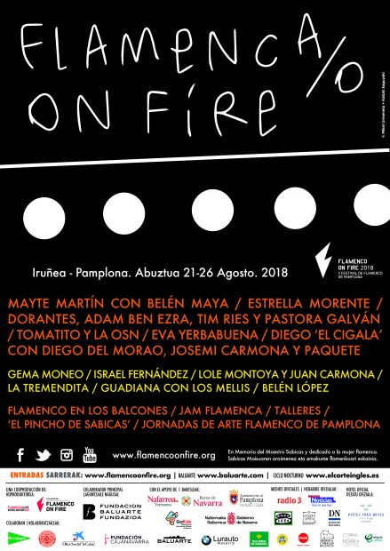 Cartel de Flamenco On Fire 2018