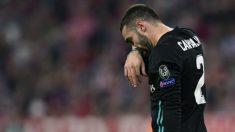 Carvajal, en el partido contra el Bayern en Múnich. (AFP)