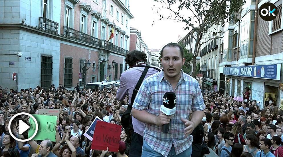 Manifestación en rechazo a la sentencia de 'La Manada', Madrid.