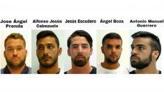 Los integrantes de 'La Manada', condenados por abusos sexuales.