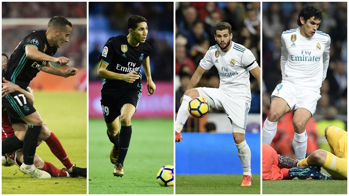 Las cuatro opciones de Zidane para el lateral derecho. (Fotos: AFP)