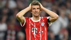 Müller se lamenta durante el Bayern – Real Madrid. (AFP)
