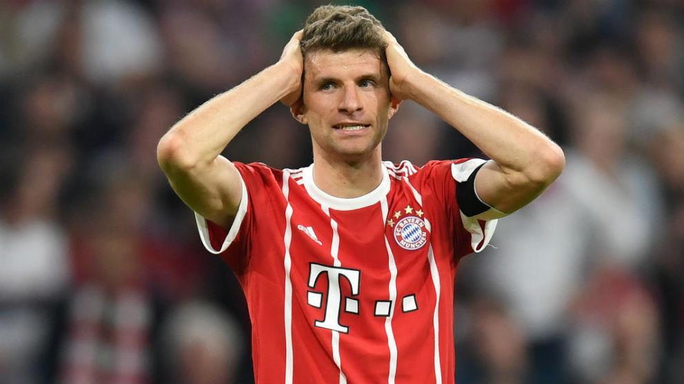 Müller se lamenta durante el Bayern – Real Madrid. (AFP) | Real Madrid – Bayern