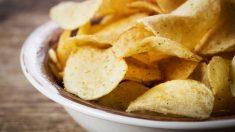 Receta de patatas fritas al microondas.