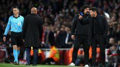El Cholo Simeone, expulsado durante el Arsenal – Atlético. (Getty)