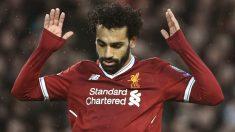 Mohamed Salah pide perdón tras uno de sus goles a la Roma. (AFP)   Final Champions League 2018