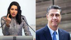 Inés Arrimadas y Xavier García-Albiol.