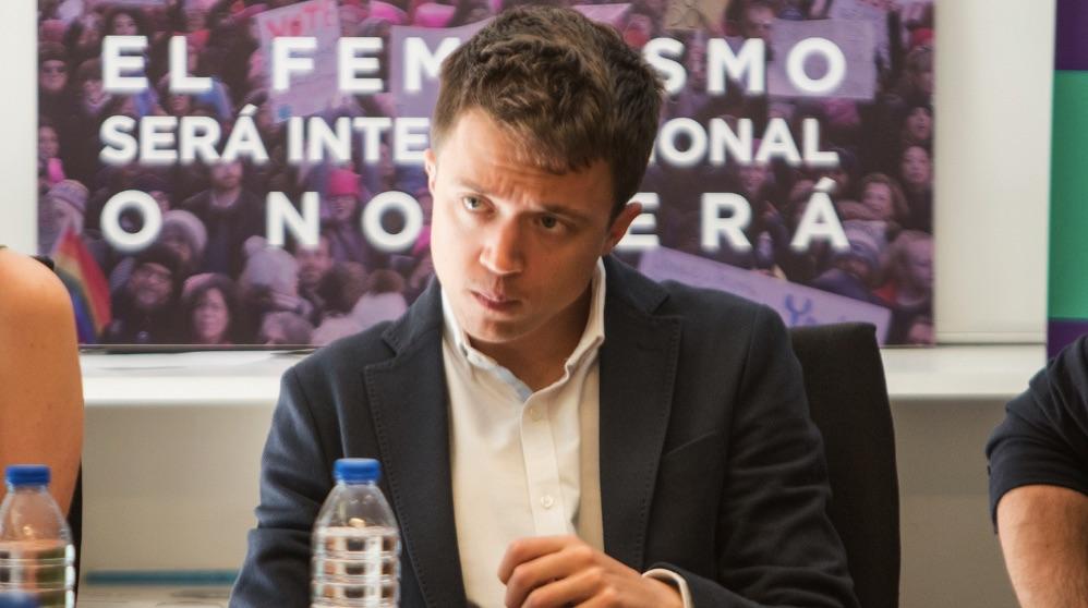 Íñigo Errejón en una reunión reciente. (Foto: Sí Madrid 2019)