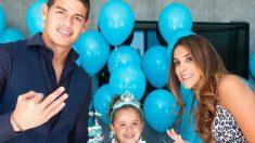 James Rodríguez y Daniela Ospina junto a la hija en común de ambos, Salomé. (Instagram)