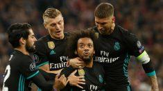 Ramos, Kroos e Isco celebrando el gol de Marcelo (Getty)