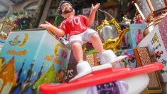 Salah es protagonista de los muñecos de las celebraciones previas al Ramadán en el mundo árabe. (Getty)