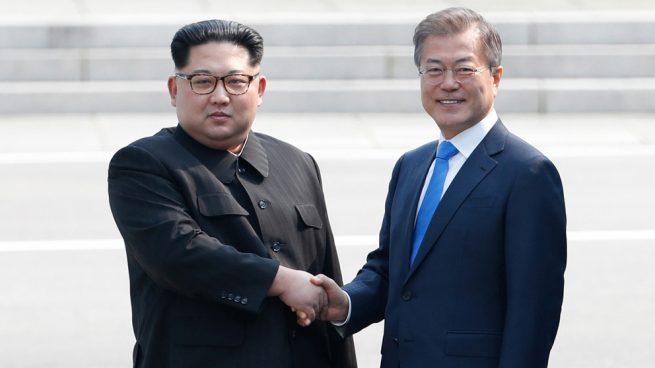 Kim Jong-un y Moon Jae-in