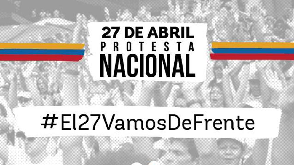 Cartel anunciador de la protesta contra Nicolás Maduro. | Elecciones Venezuela 2018