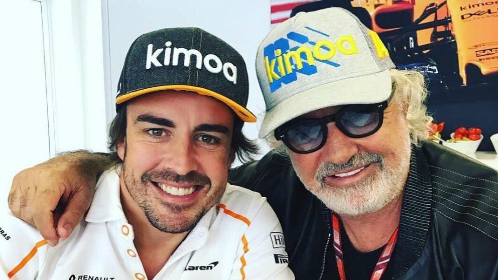 Fernando Alonso y Flavio Briatore, en el GP de Azerbaiyán de Fórmula 1.