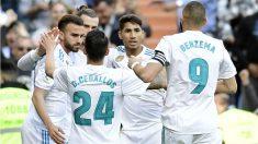 Los jugadores del Real Madrid celebran un gol ante el Leganés. (AFP) | Barcelona – Real Madrid | Clásico