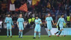El Barcelona durante su partido de Champions ante la Roma. (Getty)