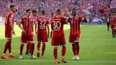 El Bayern celebra un gol. (Bayern de Múnich)