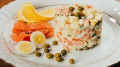 Receta de ensaladilla de salmón ahumado un pequeño lujo