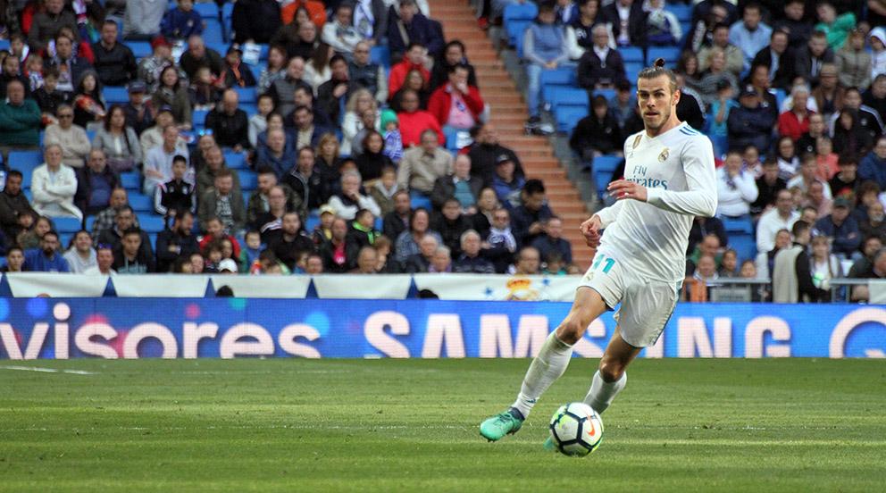 Gareth Bale, durante el Real Madrid – Leganés. (Foto: Enrique Falcón)