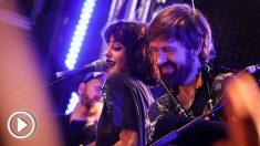 Vega y Budiño, en el concierto del Ocho y Medio Club de Madrid. (Foto: El Erizo Albino)