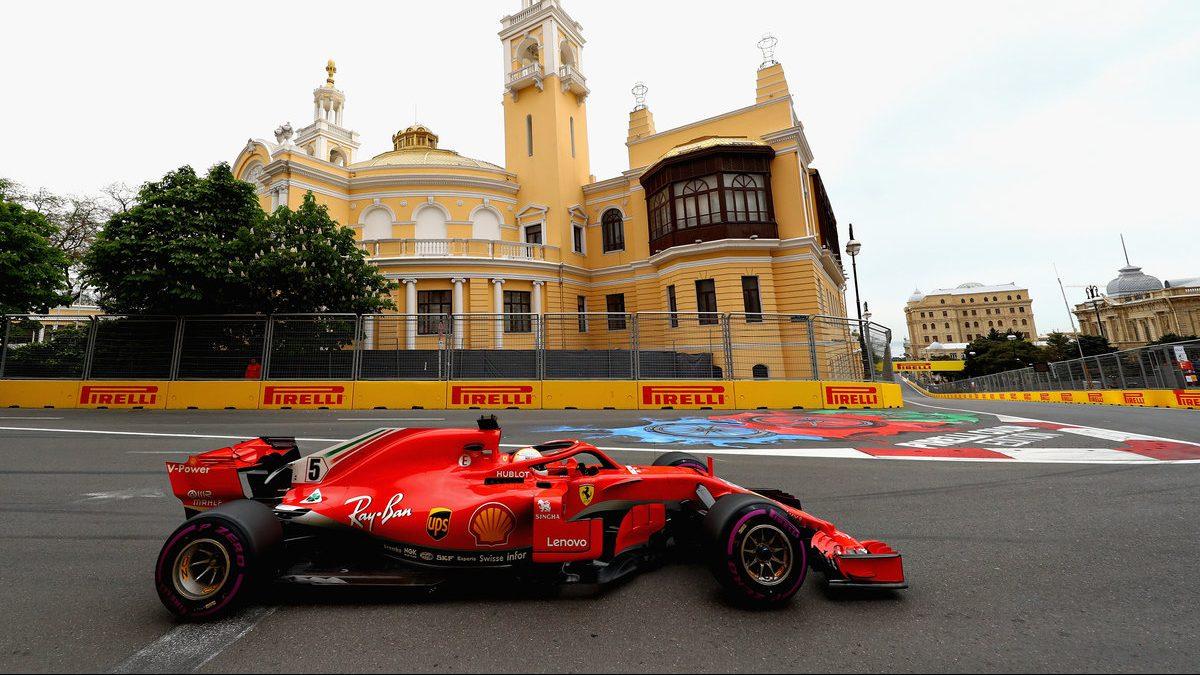 Sebastian Vettel se hizo con la pole en el GP de Bakú (Getty)
