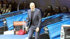 Zidane durante el Real Madrid – Leganés. (Enrique Falcón)