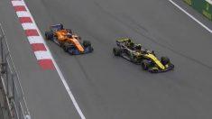 Carlos Sainz adelanta a Fernando Alonso en el GP de Azerbaiyán.