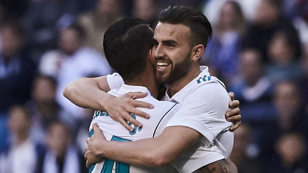 Borja Mayoral celebra su gol al Leganés. (Getty)