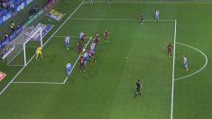 Fuera de juego en el gol de Lucas Pérez.