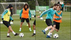 Isco y Nacho se entrenaron con el grupo antes del duelo contra el Bayern.