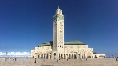 La Gran Mezquita Hassan II en Casablanca (Marruecos).