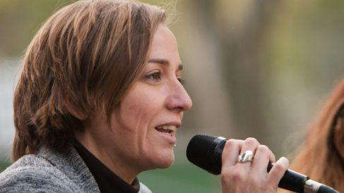 Tania Sánchez en un mitin. (Foto. Sí Madrid 2019)