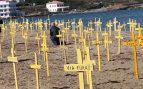 Recuperemos España quiere llenar de sombrillas nacionales la playa de Badalona