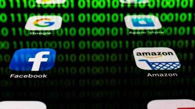 Los cuatro gigantes tecnológicos conocidos como GAFA (Google, Amazon, Facebook y Apple). Foto: AFP