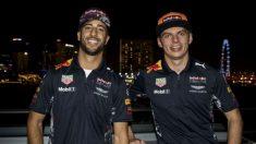 Daniel Ricciardo y Max Verstappen tuvieron cada uno su parte de culpa en el accidente que dejó a ambos Red Bull fuera del Gran Premio de Azerbaiyán de Fórmula 1. (Getty) | Fórmula 1