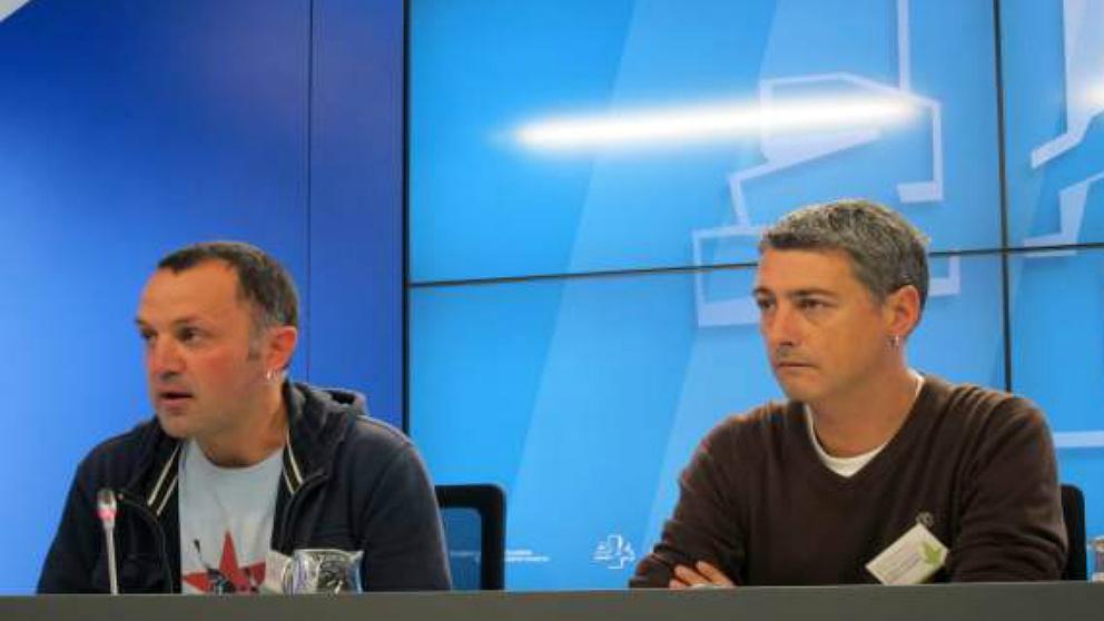 Los proetarras de Bildu Unai Urruzuno, parlamentario vasco, y Oskar Matute, diputado en el Congreso.