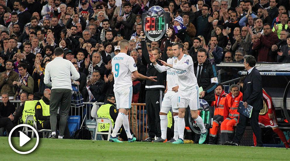 Benzema se marchó ovacionado y dio entrada a Gareth Bale. (FOTO: Quique Falcón)